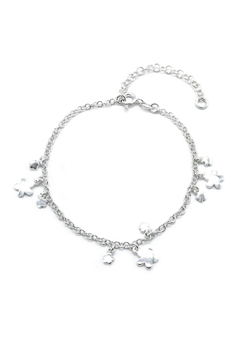 Silverworks silver Carissa Flower Charms Silver Bracelet with Rolo Chain 491CCACD195938GS_1