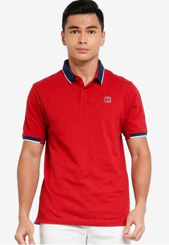 Under Armour red UA Ace Novelty Polo Shirt BD05AAACBA997CGS_1