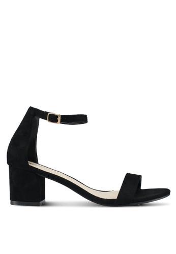 Bata black Strappy Blocked Heels B9268SHDB268B5GS_1
