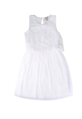 LC Waikiki white Lace Pleated Dress 003A7KA7417F66GS_1
