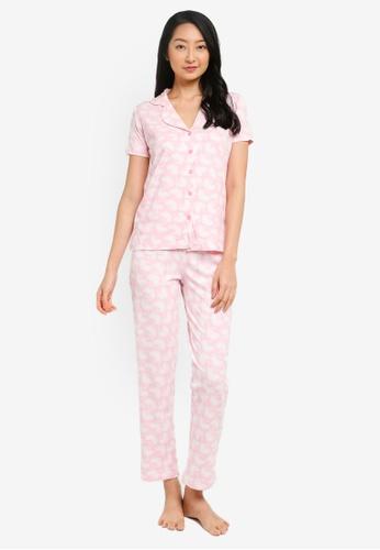 Trendyol pink Dandelion Shirt and Pants Pajama Set 4668CAA97D9253GS_1