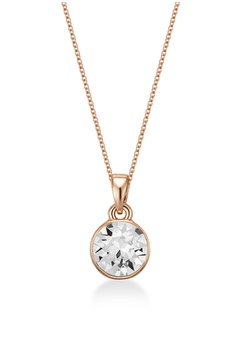 e32444f6c Mestige pink Rose Gold Gabriella Necklace with Swarovski® Crystals  307CBACB94751BGS_1