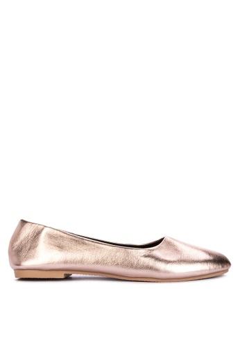 BENCH gold Plain Ballet Flats B6CE1SH0247476GS_1