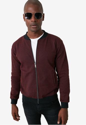 Trendyol red Long Sleeve Zipper Cardigan EA18FAAA0A3836GS_1