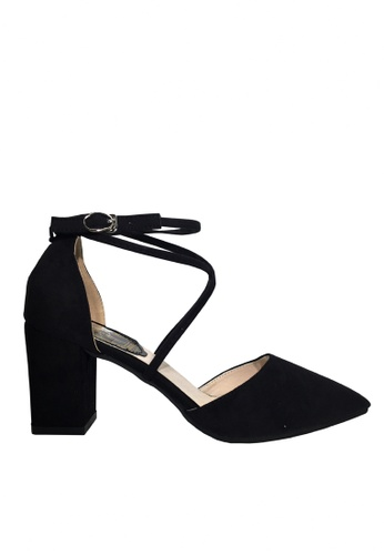 Twenty Eight Shoes 黑色 搭帶尖頭高跟鞋 VL888 8DEE5SH693B346GS_1