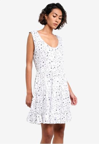 Glamorous white Printed Dress GL059AA0RL32MY_1