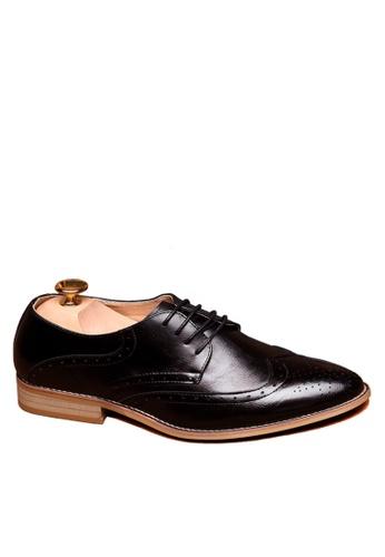 Twenty Eight Shoes black Leather Hidden Heel Brogue Business Shoes VMF1911H 55A57SH47C49FCGS_1