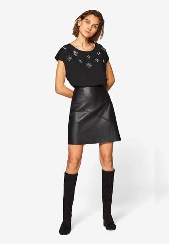 ESPRIT 黑色 短袖T恤 43909AAA17F43EGS_1