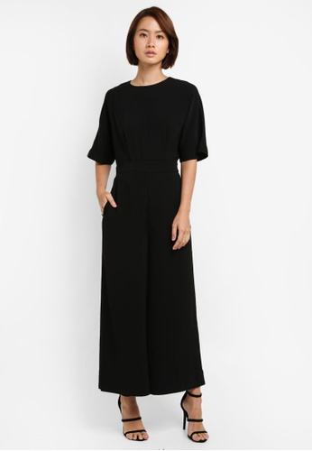 WAREHOUSE black Wide Leg Jumpsuit FB6BFAA2F67912GS_1