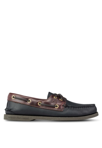 Sperry black Authentic Original 2-Eye Classic Boat Shoes SP921SH53KUCSG_1