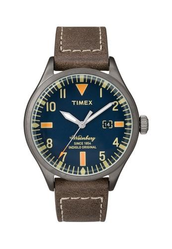 TIMEX brown Timex The Waterbury™ with Gunmetal Case - TW2P83800 TI205AC0RG75MY_1