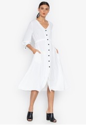 Susto The Label white Marta Button Dress 6D167AA7DED0C0GS_1