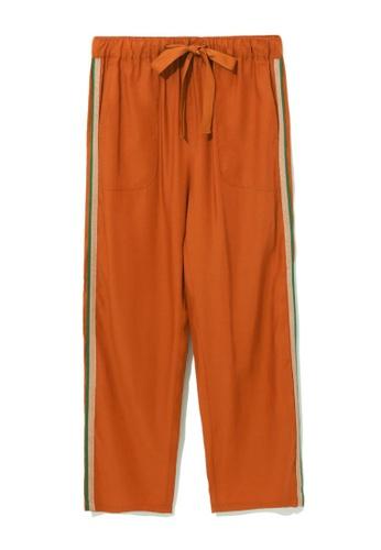 tout à coup orange Side tape cropped pants 7C5D7AAEBD1D1EGS_1