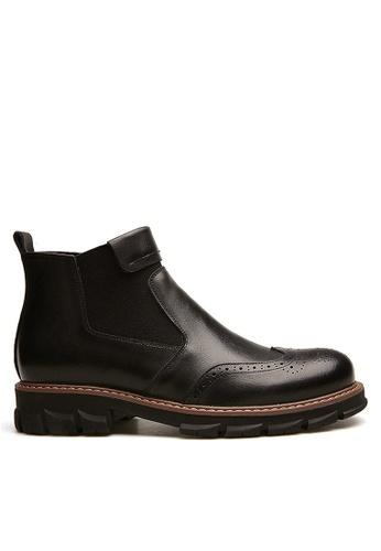 Twenty Eight Shoes black Stylish Leather Elastic Boots VMB12630 43328SH390E39AGS_1