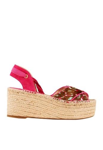 Minelli pink MIREBELLION Pony Leather Sandals MI352SH78MERSG_1