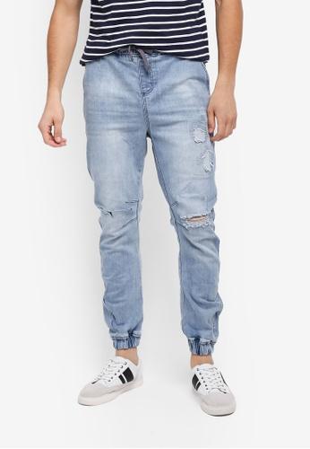 Factorie blue The Denim Jogger Pants 8760EAA780A544GS_1