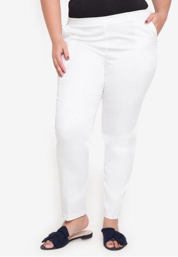 Curvy white Plus Size Londyn Straight Cut Jeans CU774AA0JATMPH_1