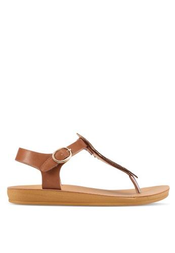 Noveni brown Embellished Sandals NO978SH0S9R6MY_1