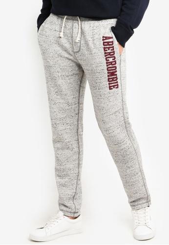 Abercrombie & Fitch 灰色 混色刺繡慢跑褲 B2E24AA5CFCB97GS_1