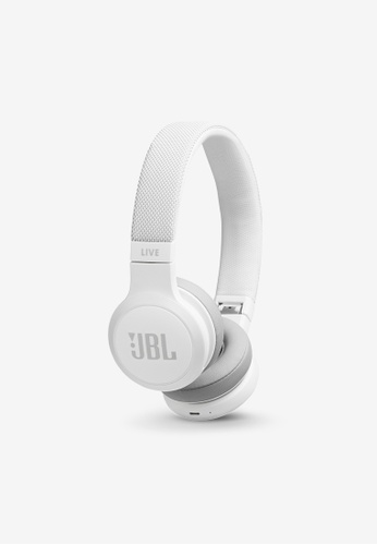 JBL white JBL LIVE 400BT Wireless On-Ear Headphones AF5D3ACF1DFF33GS_1