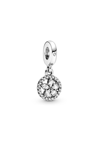 Pandora silver Pandora Sparkling Snowflake Circle Dangle Charm 9C607AC3118984GS_1