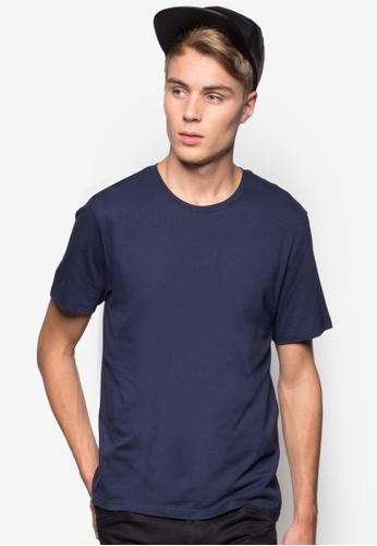 Burton Menswear London navy Navy Basic Crew Neck T-Shirt BU964AA91DHGMY_1