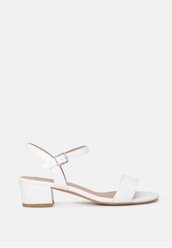 London Rag white Ankle Strap Low Heel Sandals 60D53SH2524C00GS_1