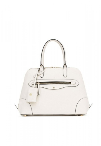 LULUGIFT white Lulugift Special Zipper Urban Leisure Shoulder bag Diagonal White LU989AC0RAN5MY_1