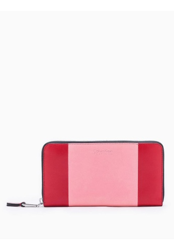 Calvin Klein pink 2-Toned Long Continental Wallet 6787AAC5EB5CE6GS_1