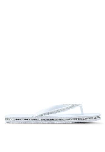 OVS white Rubber Flip Flops With Diamantes A2304SH056CAD1GS_1