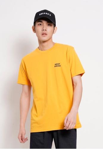 Hi Style yellow Graphic Short Sleeve T-Shirt C6FCDAACF93A5EGS_1