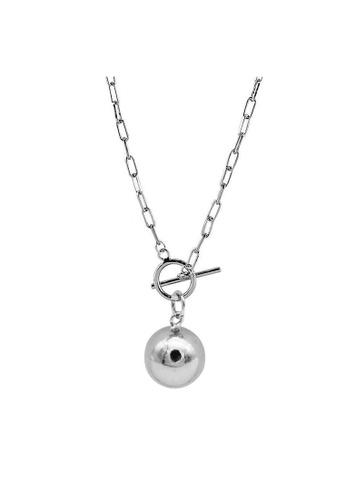 LYCKA silver LDR1335 S925 Silver Pearls Necklace CCA86ACDEF257DGS_1