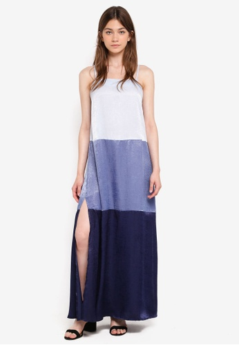 Something Borrowed blue Panelled Cami Maxi Dress F6A81AA18ECDA5GS_1