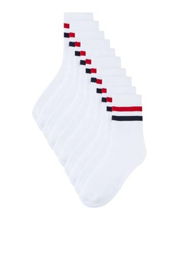 Brave Soul white Men's Basic Socks 5 Pack A0162AAB28CABCGS_1