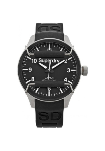 Superdry black and silver Superdry Scuba SYG109B Men's Watch F3441ACEA44366GS_1