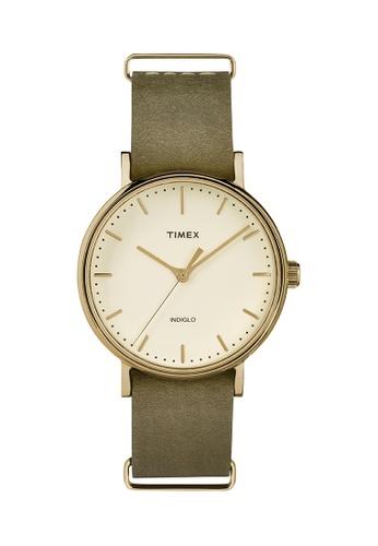 TIMEX green Timex Weekender™ Fairfield 37mm - TW2P98500 TI205AC0RIB8MY_1
