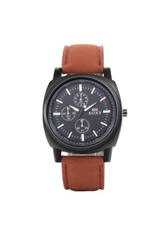 WH0051O Stylish Three eyes Quartz Business Casual Man Watch Stainless Steel Metal Round Dial