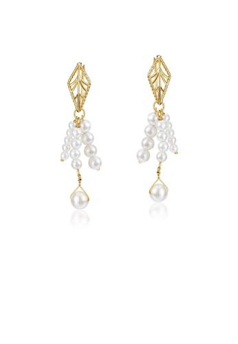 SUNSET gold Premium 925 Sliver Pearl Earring 88B1FAC2F8348DGS_1