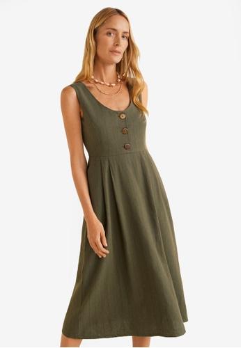 Buy Mango Striped Linen Dress