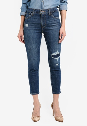 Levi's blue 721 Asia High Rise Ankle Skinny Jeans FFD9CAAD54F1EAGS_1