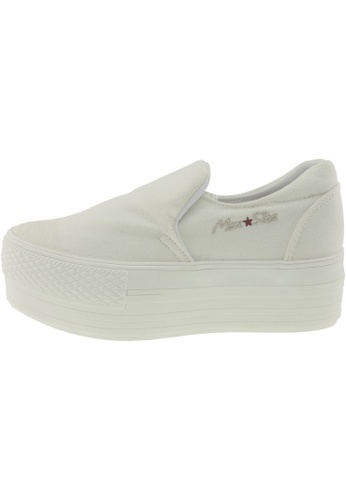 Maxstar Maxstar Women's C50 Platform Canvas Skate Slip On Shoes US Women Size MA168SH13BXYHK_1