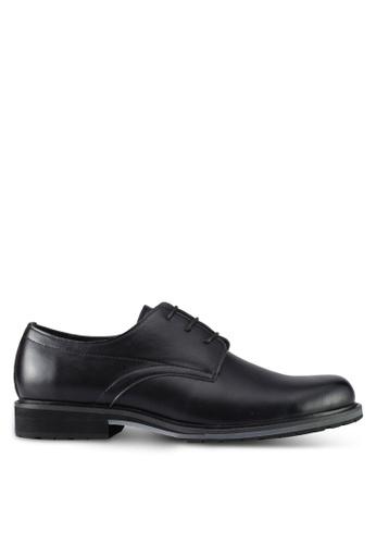 ZALORA black Lace Up Dress Shoes 37C65SHD1C9007GS_1