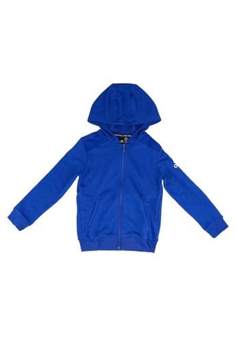 ADIDAS blue boys badge of sport full zip hoodie E0EFEKA9222A59GS_1