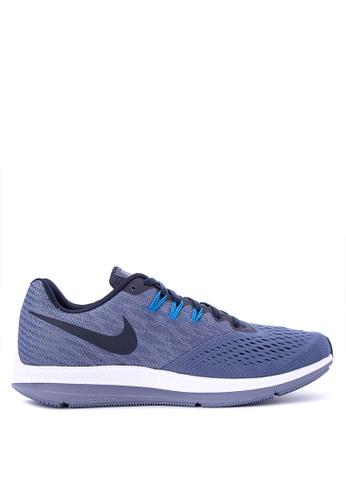 Nike blue Men's Nike Air Zoom Winflo 4 Running Shoes NI126SH0KPUHPH_1