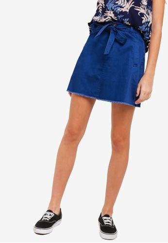 Something Borrowed navy A-Line Skirt With Self Tie FDB6CAA037D27BGS_1