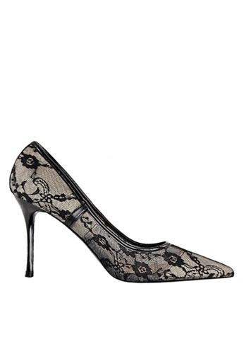 Twenty Eight Shoes 黑色 性感蕾絲晚裝及新娘鞋 VP18531 32093SHDE09AE8GS_1