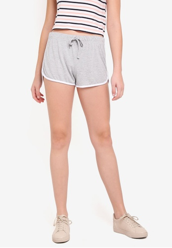 Cotton On grey Retro Contrast Bind Shorts 2A9C4AAFC01448GS_1