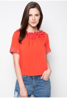 Scoop Neck With Lace Applique