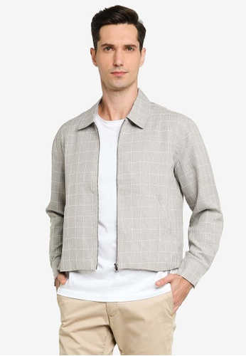 ZALORA BASICS grey Zip Through Jacket 73721AA311414CGS_1