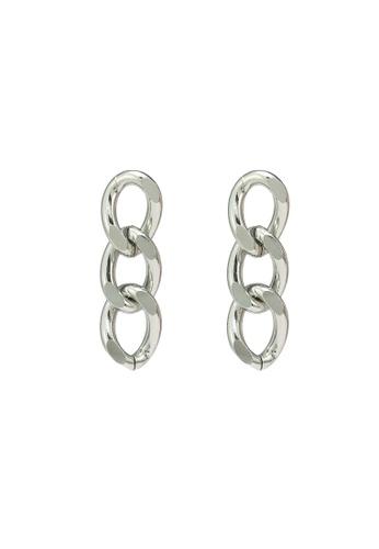 Red's Revenge silver Triple Links Dangle Earrings 26B6BACB2791DFGS_1